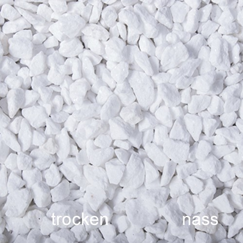 Schneeweiss Splitt 8-25 mm weiß Dolomit