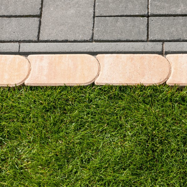 Rasenmähkante sandstein 24x12x4 cm