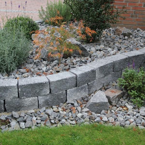 Siola Mini Mauerstein schwarz Gartenmauer