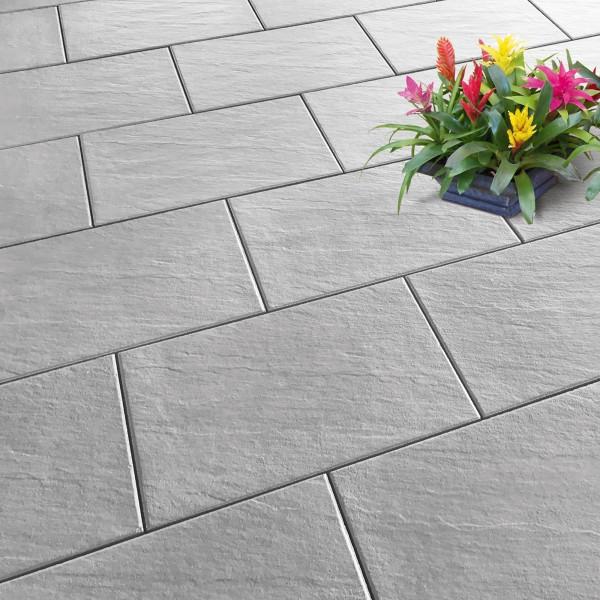 Terrassenplatte Scivo 60x40x4 cm mittelgrau