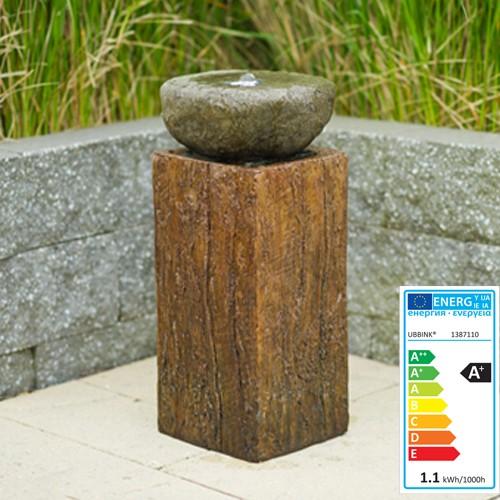 Nashvill - Wasserspiel aus Holz und Stein inkl LED