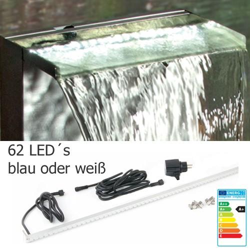 LED Leiste 90 cm weiß oder blau - Beleuchtung für Wasserfall