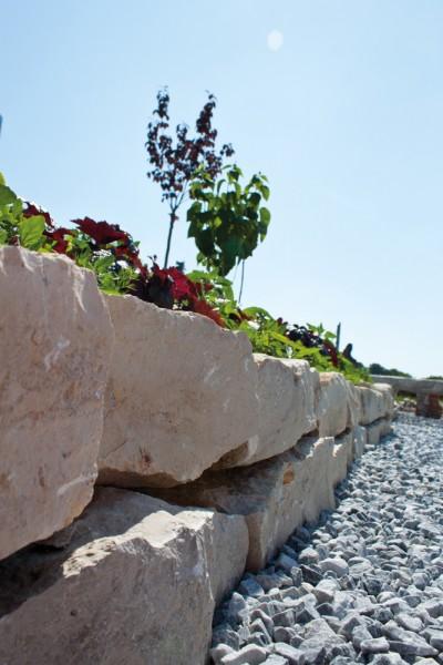 Jura Mauerstein Gartenmauerstein 8-15x15-25x30-50 cm beige Kalkstein