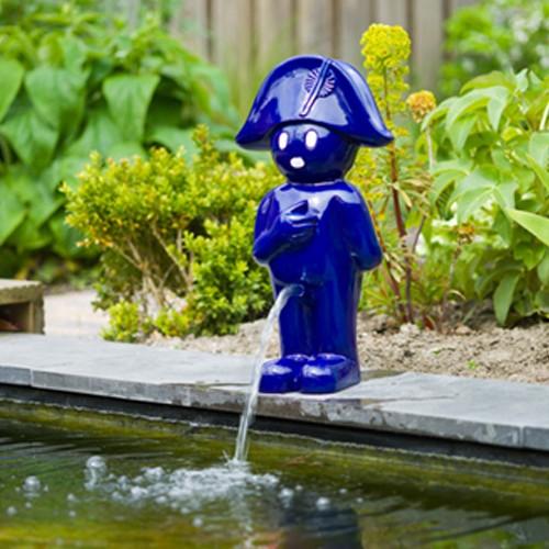 Wasserspiel Napoleon 66 cm blau - Wasserspeier Gartenteich