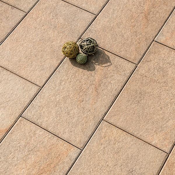 Terrassenplatte Caleo 60x40x4 cm sandstein Verlegebeispiel
