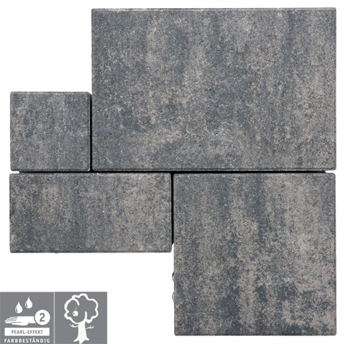 Pflasterstein Quarzit 1,06m² Via Royal PE2 - Versickerungspflaster